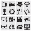 Stock Vector: Movie icons set