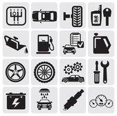 Auto samochód ikony — Wektor stockowy