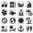 Summer icons — Stock Vector #11998432