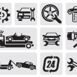Stock Vector: Car repair icons