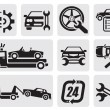 Car repair icons - Stock Vector