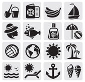 Summer icons — Vettoriale Stock