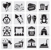 Carnival icons — Vector de stock