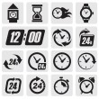 Clocks icons - Stok Vektör