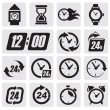 Clocks icons - Vettoriali Stock