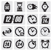 Icone orologi — Vettoriale Stock