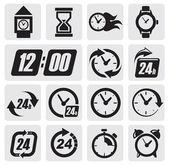 Klokken pictogrammen — Stockvector