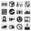 Stock Vector: Shipping icons