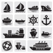 Royalty-Free Stock Vector Image: Boat and ship icons set