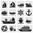 Boat and ship icons set — Stock Vector #12055745