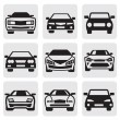 Car symbols set - Stok Vektr