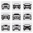 Постер, плакат: Car symbols set