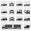 Transport icons set — Stock Vector