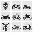 Motorcycles and bicycles set — Stock Vector #12055758