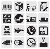 Verzending pictogrammen — Stockvector