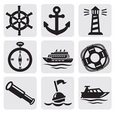 Nautical set — Stock Vector
