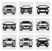 Araba simgeler kümesi — Stok Vektör