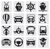 Transport icons set — Stockvektor