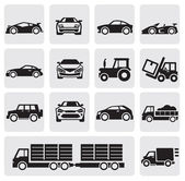 Transport icons set — Stockvector