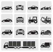 Transportgruppe symbole — Stockvektor