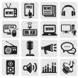 media iconen set — Stockvector