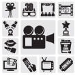 Movie set - Stock Vector
