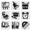 School icons — Stock Vector #12096506