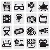 Movie set — Vector de stock