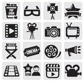 Set filmsupporto callcenter — Vettoriale Stock