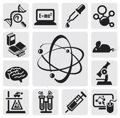 Set di scienza — Vettoriale Stock