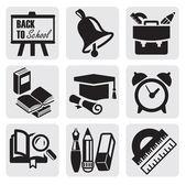 Iconos de la escuela — Vector de stock