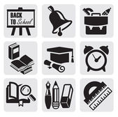 School icons — Vector de stock