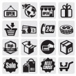 Shopping icons — Vettoriali Stock