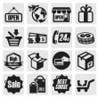 Shopping icons — Vecteur