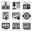 Newspaper media icons — Stock Vector #12111578