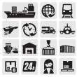 Stock Vector: Shipping and cargo icons