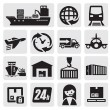 Shipping and cargo icons - Stock Vector