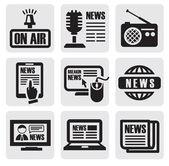 Newspaper media icons — Stock Vector