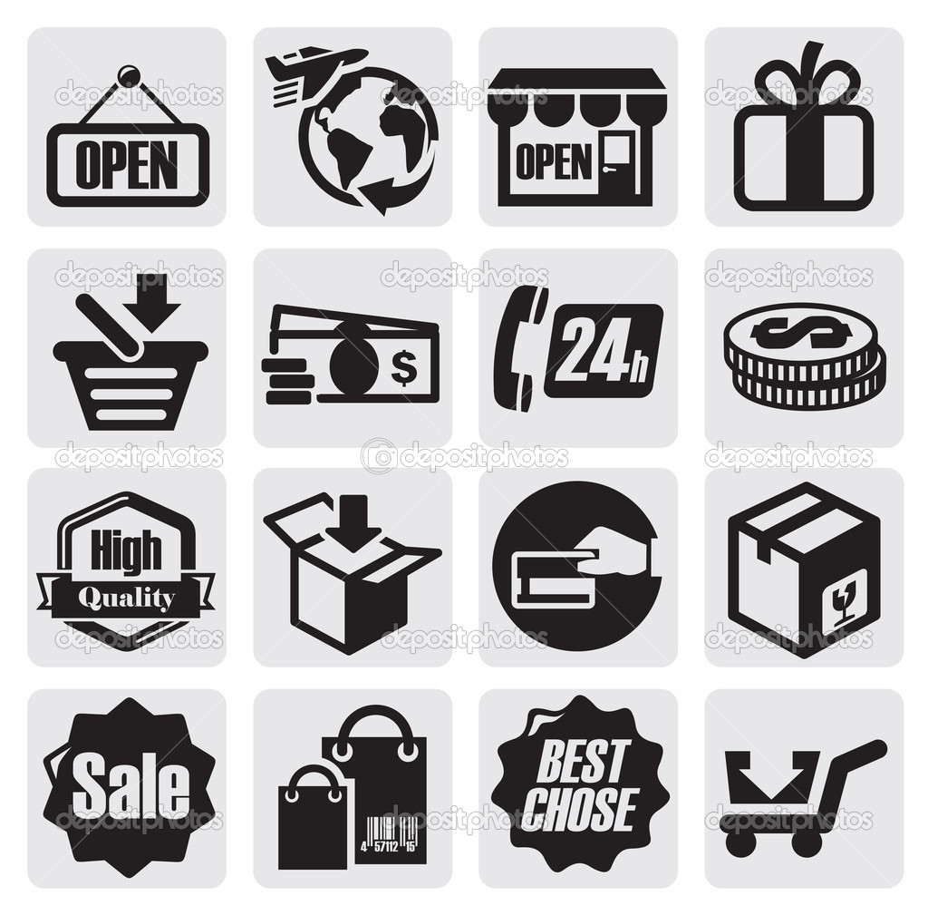 购物图标 — 图库矢量图像08