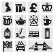 Vector set of uk — Stockvectorbeeld