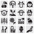 Farm set — Vector de stock