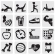 Fitness and sport set — Imagen vectorial