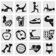 Fitness and sport set - Grafika wektorowa