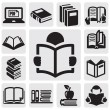 Books icons set — Stock Vector