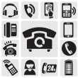 Phone icons — Vettoriale Stock #12212899