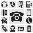 Phone icons - Image vectorielle