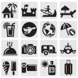 Stock Vector: Tourism set icons