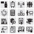 Education icons set - 图库矢量图片
