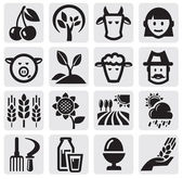 Farm set — Stock Vector