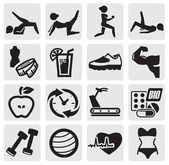 Fitness en sport set — Stockvector